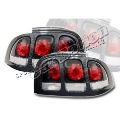 94-95, 96-98 Ford Mustang Altezza Tail Lights Carbon Fiber