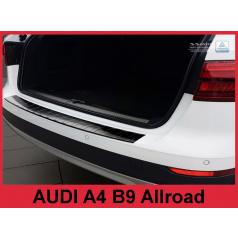 Nerez kryt- černá ochrana prahu zadního nárazníku Audi A4 B9 Allr. 2016+