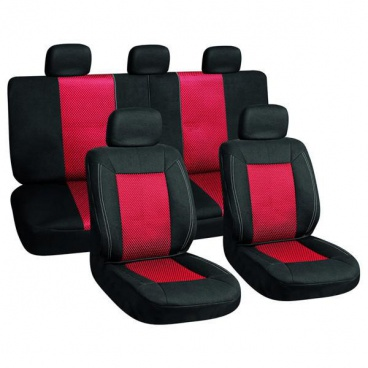 Autopotahy black/red sada 3ks