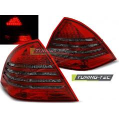 Mercedes C-Klasa W203 Sedan 2000-04 zadní lampy red smoke LED (LDME60)