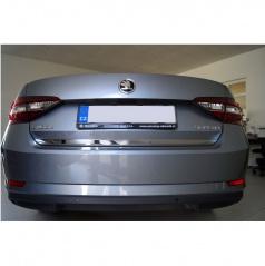 Škoda Superb III - spodní lišta kufru - nerez chrom Omtec