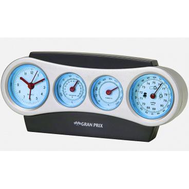 Přenosná meteorologická stanice (měří čas, teplotu, vlhkost a tlak)