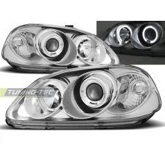 Honda Civic 03.99-02.01 přední čirá světla Angel Eyes chrome (LPHO06)