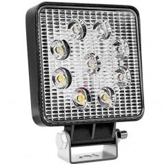 Světlo pracovní hranaté  9 LED 110x110 m 35W FLAT 9-36V