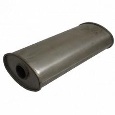 Univerzální ocelový výfukový tlumič š210 x d450 x v125mm ( 55 mm vstup)