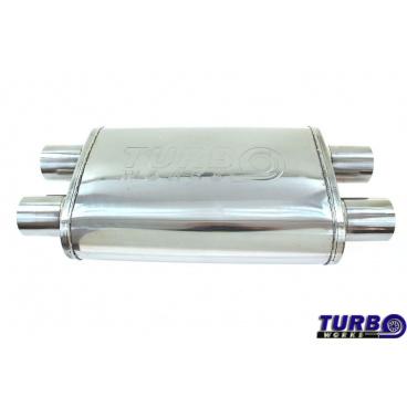Střední výfukový mezitlumič  dual Hi-FlowX Turbowork