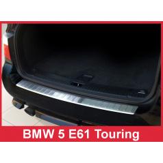 Nerez kryt- ochrana prahu zadního nárazníku BMW 5 E61 2007-10