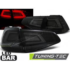 VW Golf 7 2013- zadní lampy smoke black LED BAR (LDVW03)