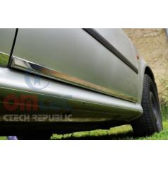 Dekorativní nerez chrom boční dveřní lišty OMTEC  Škoda Octavia I