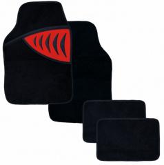 Autokoberce textilní-Shark-univerzální červené