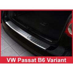 Nerez kryt- ochrana prahu zadního nárazníku Volkswagen Passat B6 Variant 2005-10