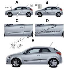Boční ochranné lišty dveří - VW Up!, 2012 -, 3 dveř.
