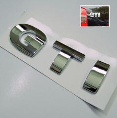Znak GTI samolepící pro koncernové vozy VW  chrom
