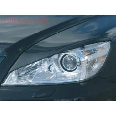 Kryty světlometů Milotec Bad look (mračítka) - ABS černý, Škoda Octavia II. Facelift