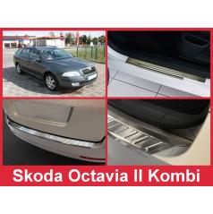 Nerez kryt- sestava-ochrana prahu zadního nárazníku+ochranné lišty prahu dveří Škoda Octavia II kombi 2004-12