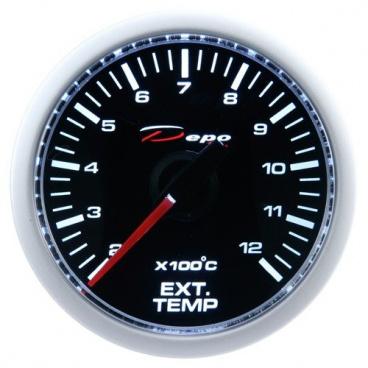 Přídavný budík Depo Racing Výfukové plyny 52 mm