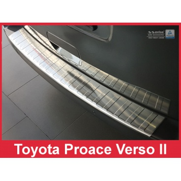 Nerez kryt- ochrana prahu zadního nárazníku Toyota Proace Verso II 2016+