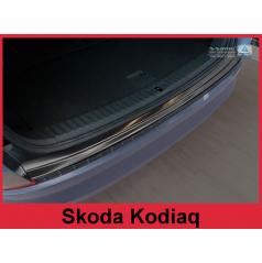 Nerez kryt- černá ochrana prahu zadního nárazníku Škoda Kodiaq 2016+