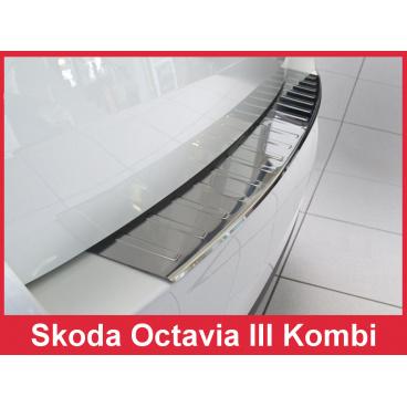 Nerez kryt- ochrana prahu zadního nárazníku Škoda Octavia III kombi 2013-16