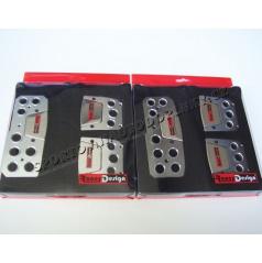 Značkové sportovní pedály Race Design alu leštěné chrom nebo gunmetal tmavé