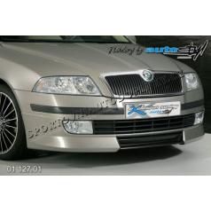 Škoda Octavia II Přední spoiler - pro lak , střední díl černý desén