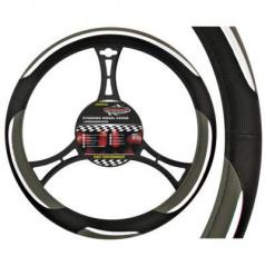 Potah na volant - Turbo black/grey/silver