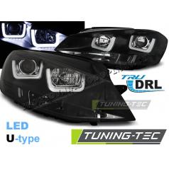 VW Golf 7 11.2012- přední čirá světla U-Type black (LPVWK6)