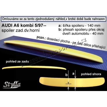 AUDI A6 COMBI 97+ křídlo zadní horní (EU homologace)