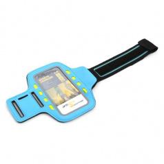 Elegantní reflexní držák smartphonu na paži 8 LED modrý