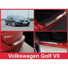 Nerez kryt- sestava-ochrana prahu zadního nárazníku+ochranné lišty prahu dveří VW Golf VII 2012-16