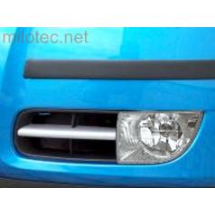 Lišty mlhových světel (hranatých) - ABS stříbrný matný, Roomster / Fabia II