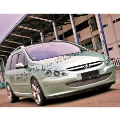 Peugeot 307 - nerez chrom lišta přední masky - OMSA LINE - skladem