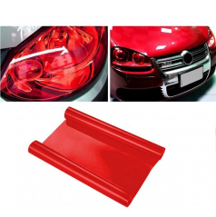 Transparentní fólie - červená  100x30 cm
