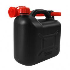 Plastový kanystr na benzín 10 l černý