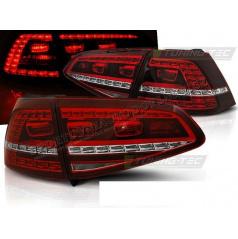 VW Golf 7 2013- zadní lampy red white LED GTI Look (LDVWE8)