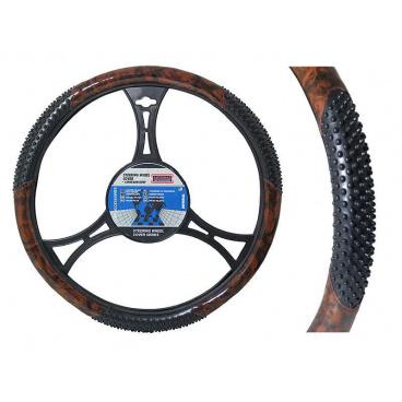 Potah na volant s masážními body Wood 39-41cm