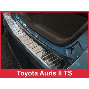 Nerez kryt- ochrana prahu zadního nárazníku Toyota Auris II Touring Sports FL 2015+