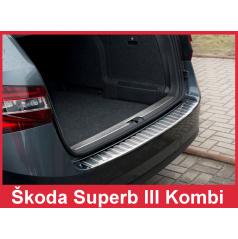 Nerez kryt- ochrana prahu zadního nárazníku Škoda Superb III kombi 2015+