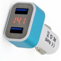 Nabíječka do auta 2xUSB + Tester napětí baterie