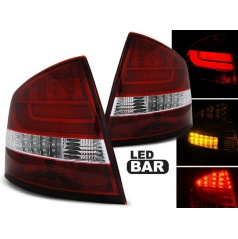 Škoda Octavia 2 sedan 2004-12 zadní lampy red white LED BAR (LDSK11)
