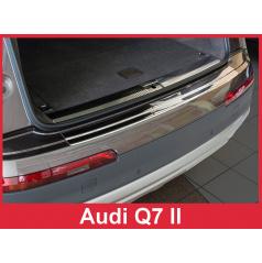 Nerez kryt- ochrana prahu zadního nárazníku Audi Q7 II 2015+