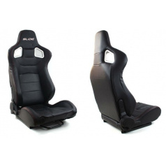 Sportovní polohovatelné sedačky imitace kůže Slide Glock černá - 2 ks