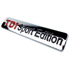Znak TDI Sport Edition samolepící pro koncernové vozy Audi, VW, Škoda, Seat