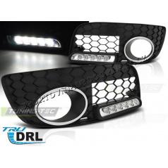 VW Golf V GTI LED denní svícení v mřížce mlhovky black (HAVW03)