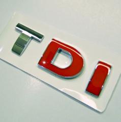 Znak TDI samolepící pro koncernové vozy Audi, VW, Škoda, Seat
