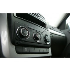 Škoda Octavia II Facelift 09-12 - chrom kroužky ovladačů man. topení KI-R