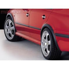 Lemy blatníků, ABS černý s rastrem, Škoda Octavia