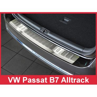 Nerez kryt- ochrana prahu zadního nárazníku Volkswagen Passat B7 Alltrack 2012+