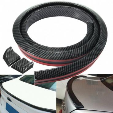 Univerzální spoilerová samolepící zadní lišta - karbonová 35x20mm