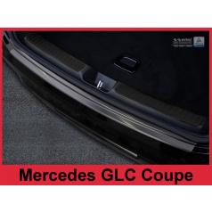 Nerez kryt-černá ochrana prahu zadního nárazníku Mercedes GLC Coupe 2016-17